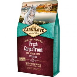 CARNILOVE CAT FRESH CARP & TROUT STERILISED FOR ADULT 6kg