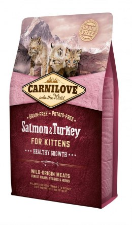 CARNILOVE CAT SALMON&TURKEY FOR KITTENS 2kg