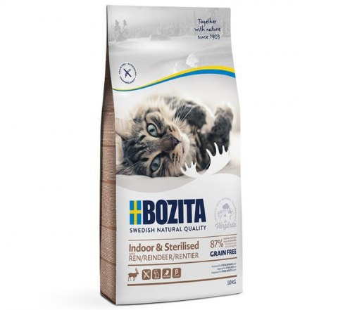 BOZITA Indoor & Sterilised Grain free Reindeer 10kg