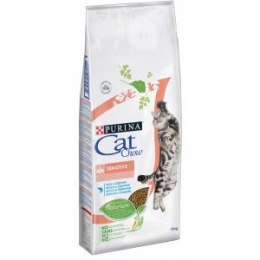 PURINA CAT CHOW SPECIAL CARE Sensitive Bogata w łososia 15kg