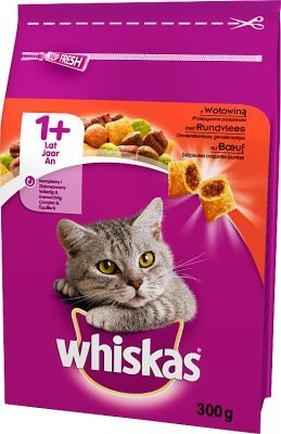 WHISKAS Adult wołowina 300g [150194]