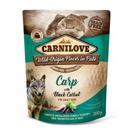 CARNILOVE DOG POUCH ADULT CARP WITH BLACK CARROT GRAIN-FREE 300g