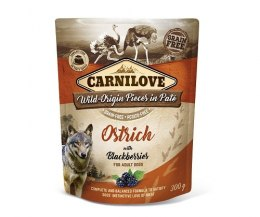 CARNILOVE DOG POUCH ADULT OSTRICH WITH BLACKBERRIES GRAIN-FREE 300g