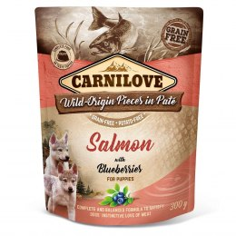 CARNILOVE DOG POUCH PUPPY SALMON WITH BLUEBERRIES GRAIN-FREE 300g