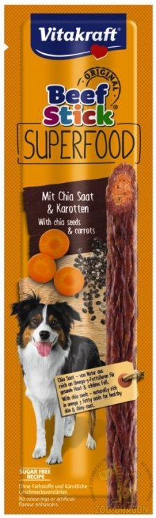 VITAKRAFT BEEF STICK 1szt Superfood marchew/chia