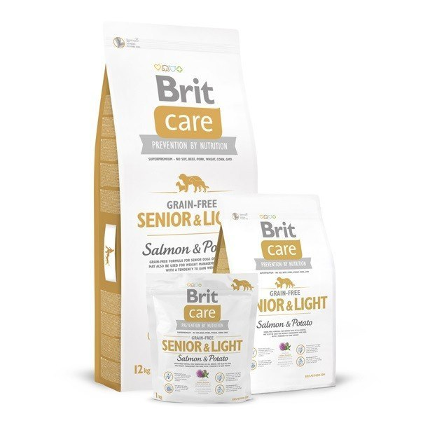 BRIT CARE GRAIN-FREE SENIOR & LIGHT SALMON & POTATO 3 kg