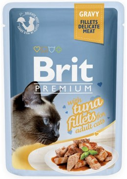 BRIT POUCH GRAVY FILLETS WITH TUNA 85 g
