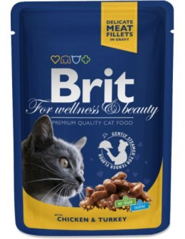 BRIT POUCHES CHICKEN & TURKEY 100 g