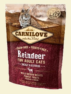 CARNILOVE CAT REINDEER ENERGY&OUTDOOR 400g