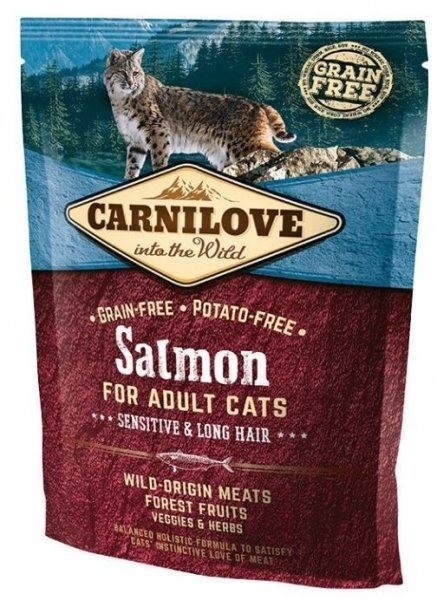 CARNILOVE CAT SALMON SENSITIVE&LONG HAIR 400g