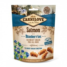 CARNILOVE CRUNCHY SNACK SALMON WITH BLUEBERRIES WITH FRESH MEAT 200g