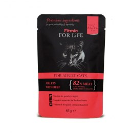 FITMIN cat For Life pouch adult beef 85g