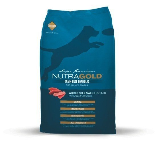 NUTRA GOLD GF WHITEFISH & SWEET POTATO 13,6 kg