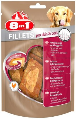 8in1 Przysmak Fillets pro skin and coat S 80g