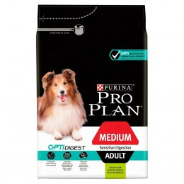 PURINA PRO PLAN MEDIUM ADULT Sensitive Digestion OPTI DIGEST Jagnięcina 3kg