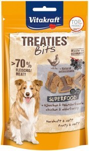 VITAKRAFT TREATIES BITS Superfood z czarnym bzem 100g przys d/psa