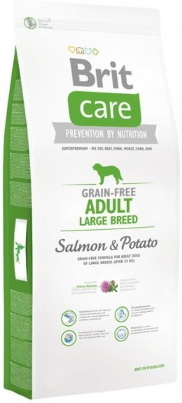 BRIT CARE GRAIN-FREE ADULT LARGE BREED SALMON & POTATO 12 kg