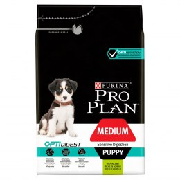 PURINA PRO PLAN MEDIUM PUPPY Sensitive Digestion OPTI DIGEST Jagnięcina 3kg