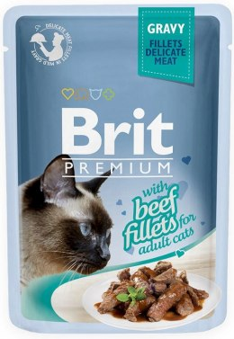 BRIT POUCH GRAVY FILLETS WITH BEEF 85 g