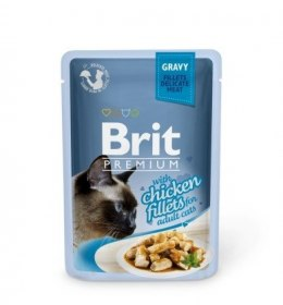 BRIT POUCH GRAVY FILLETS WITH CHICKEN 85 g
