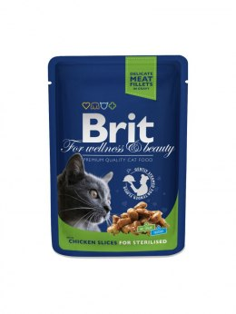 BRIT POUCHES CHICKEN SLICES FOR STERILISED 100 g