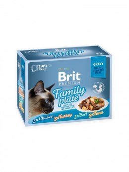 BRIT POUCHES FAMILY PLATE (12x100g) 1,2 kg