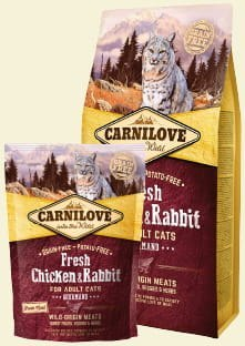 CARNILOVE CAT FRESH CHICKEN & RABBIT GOURMAND FOR ADULT 400g