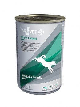 TROVET WRD Weight & Diabetic puszka 400g pies